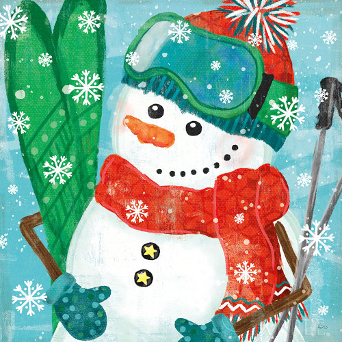 Snowy Fun V Poster Print by Veronique Charron # 58172