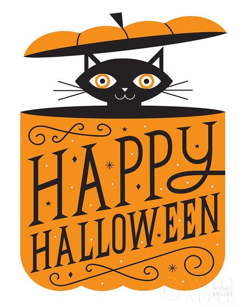 Pumpkin Kitty Poster Print by Michael Mullan # 57880
