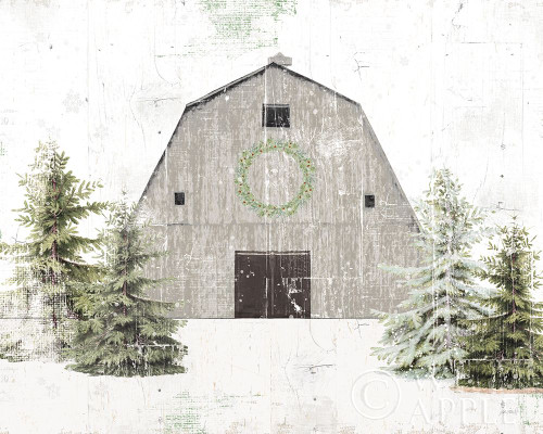 Holiday Barn Poster Print by Katie Pertiet # 57871
