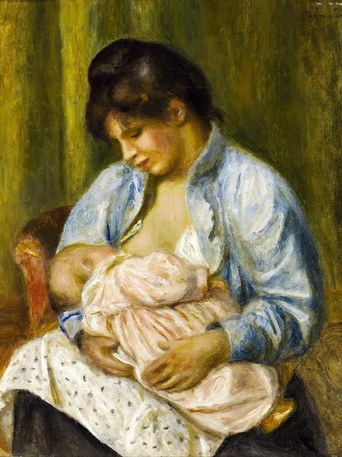 A Woman Nursing a Child Poster Print by Pierre-Auguste Renoir # 57402