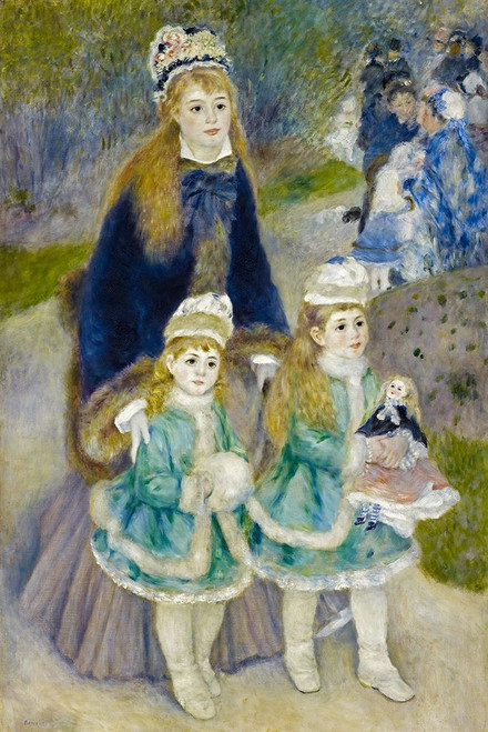 Mother and Children Poster Print by Pierre-Auguste Renoir # 57395