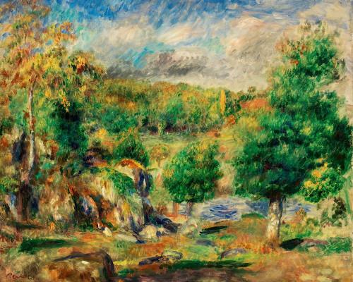 Chestnut Trees, Pont-Aven 1892 Poster Print by Pierre-Auguste Renoir # 57263