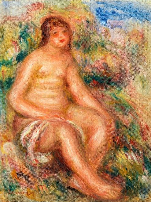 Bather 1918 Poster Print by Pierre-Auguste Renoir # 57274