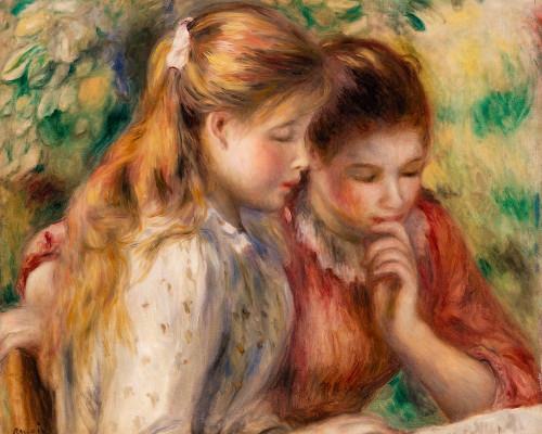 Reading 1891 Poster Print by Pierre-Auguste Renoir # 57221