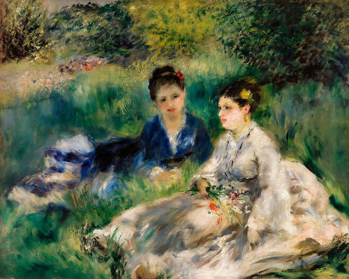 On the Grass 1873 Poster Print by Pierre-Auguste Renoir # 57147