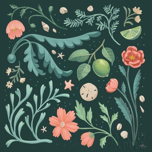 Seaside Botanical II Dark Poster Print by Janelle Penner # 57014