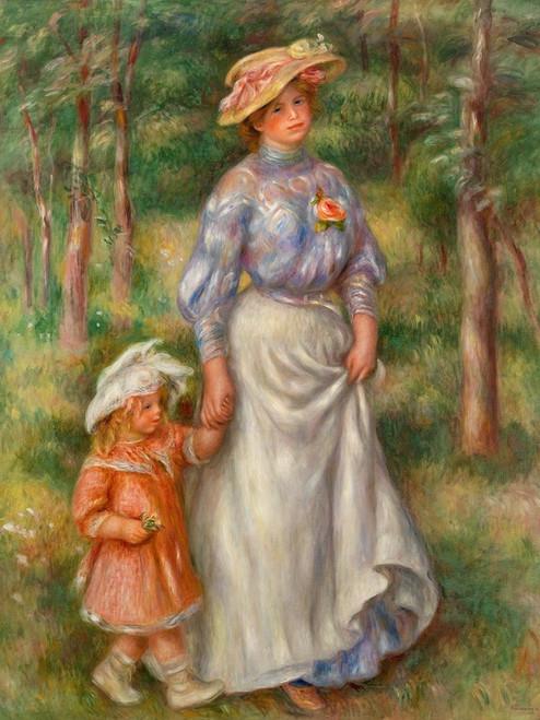 Promenade 1906 Poster Print by Pierre-Auguste Renoir # 57155