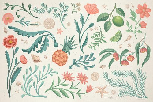 Seaside Botanical I Poster Print by Janelle Penner # 57008