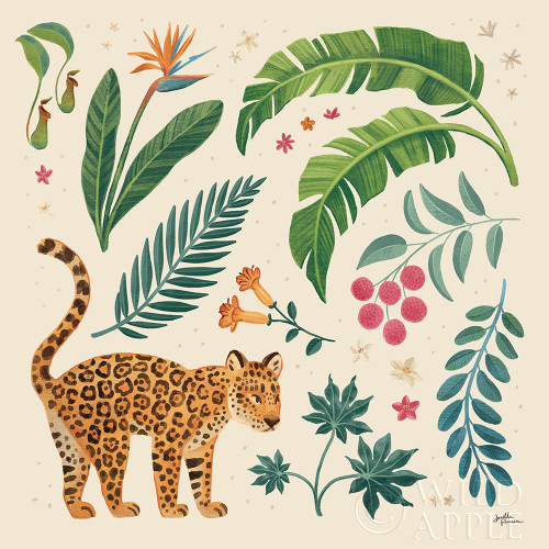Jungle Love IV Cream Poster Print by Janelle Penner # 56871