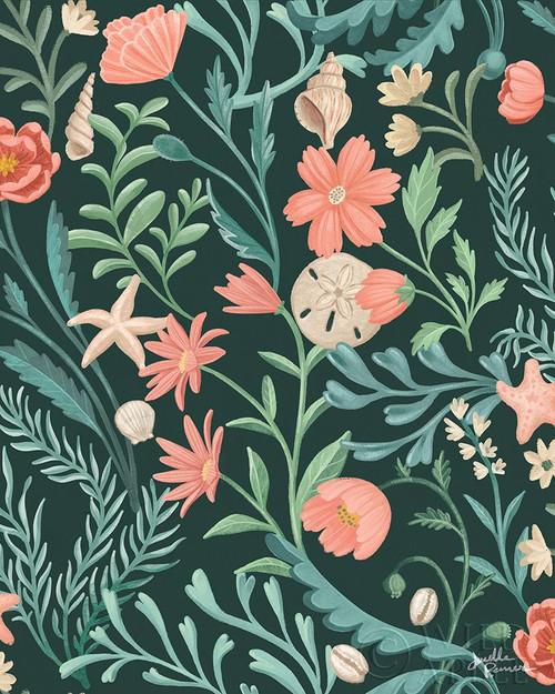 Seaside Botanical Pattern IB Poster Print by Janelle Penner # 57019
