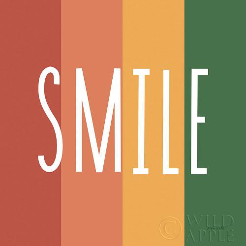 Smile Rainbow Retro Poster Print by Ann Kelle # 56931