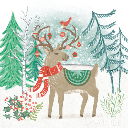 Reindeer Jubilee V Poster Print by Mary Urban # 57106