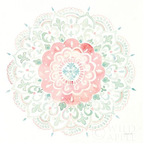 Mandala Delight IV Blue Green Poster Print by Danhui Nai # 56948