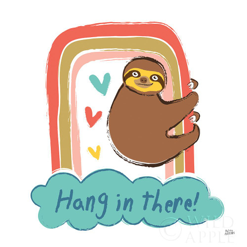 Colorful Sloth I v2 Poster Print by Melissa Averinos # 56791