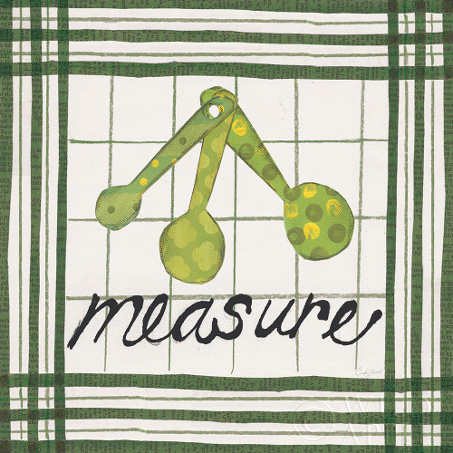 Cool Kitchen Measure Poster Print by Courtney Prahl # 56978