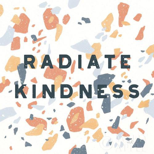 Terrazzo Inspiration I Kindness Retro Poster Print by Moira Hershey # 56847