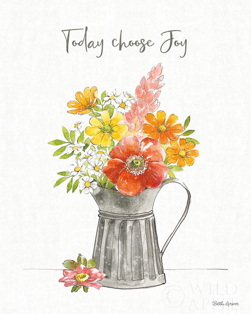 Farmhouse Floral VII Poster Print by Beth Grove # 56725