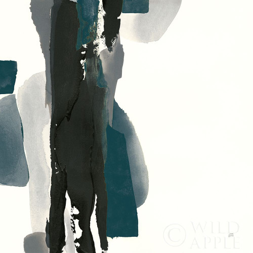 Black and Dark Teal II Poster Print by Chris Paschke # 59284