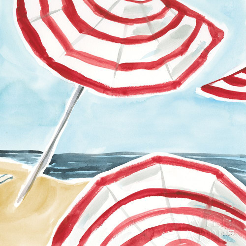 Stripes on the Beach II Poster Print by Sue Schlabach # 59241