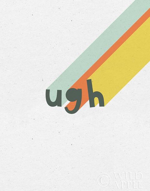 Rainbow Words II Poster Print by Moira Hershey # 59230