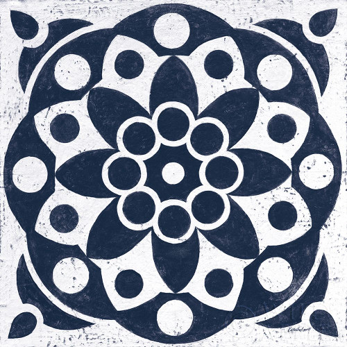 Blue and White Tile II Poster Print by Kathrine Lovell # 59159