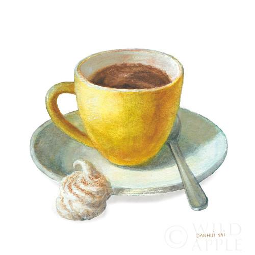 Wake Me Up Coffee IV on White Poster Print by Danhui Nai # 58854