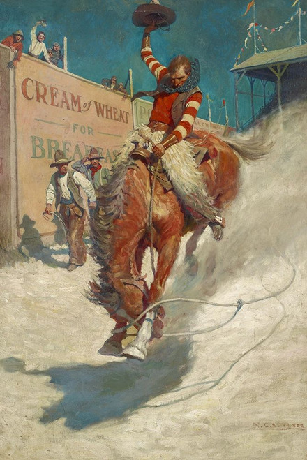 Bronco Buster Poster Print by N.C. Wyeth # 56107