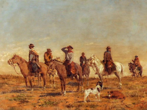 Cowboys Poster Print by Angel della Valle # 56102