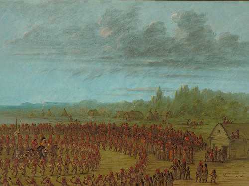 War Dance of the Saukies Poster Print by George Catlin # 56059