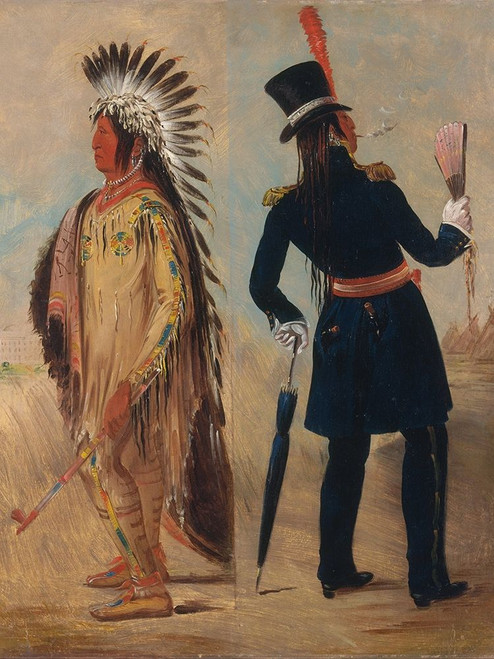Wi jun jon, Pigeons Egg Head Going To and Returning From Washington Poster Print by George Catlin # 56066