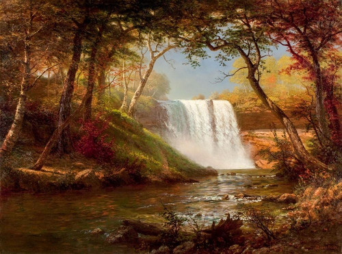 Minnehaha Falls Poster Print by Albert Bierstadt # 55824