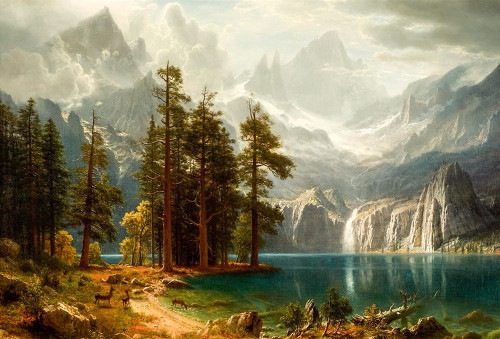 Sierra Nevada Poster Print by Albert Bierstadt # 55898