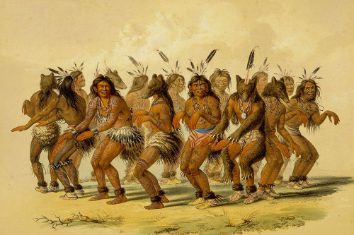 The Bear Dance Poster Print by George Catlin # 56041