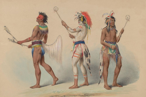 Ball Players, 1844 Poster Print by George Catlin # 56045
