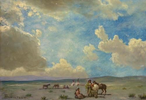 Indian Encampment Poster Print by Albert Bierstadt # 55850