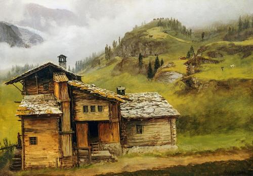Mountain House Poster Print by Albert Bierstadt # 55842
