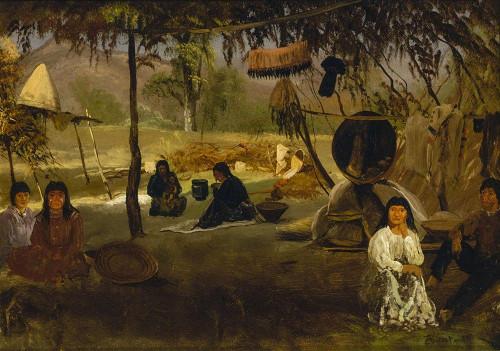 California Indian Camp Poster Print by Albert Bierstadt # 55855