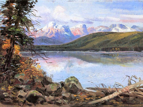 Lake McDonald Poster Print by Charles M Russell # 55764