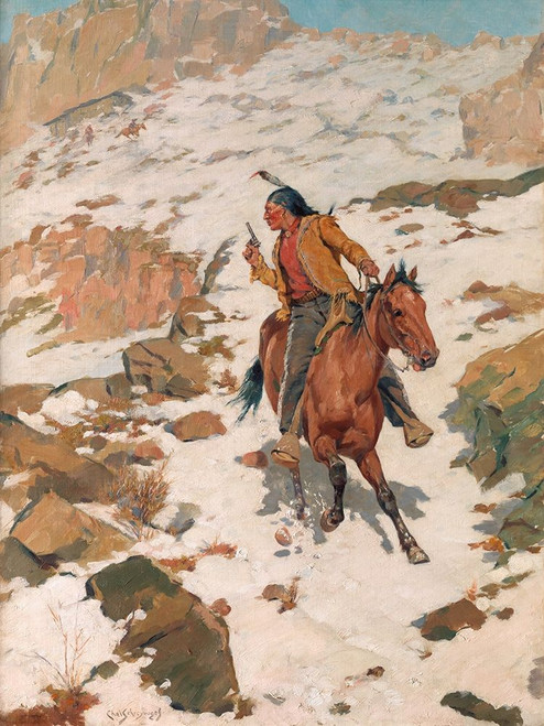 In Hot Pursuit Poster Print by Charles Schreyvogel # 55736