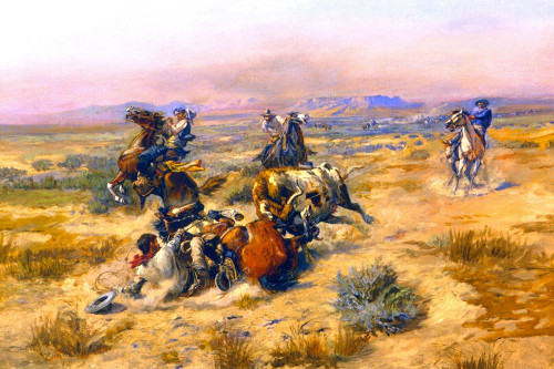 A Strenuous Life Poster Print by Charles M Russell # 55767