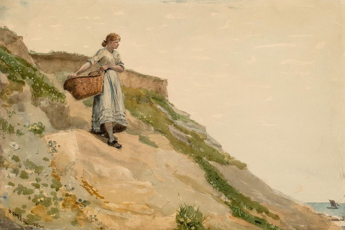 Girl Carrying a Basket Poster Print by Winslow Homer # 55668