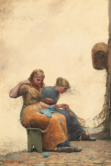 Mending the Nets Poster Print by Winslow Homer # 55669