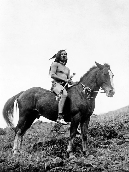 The old-time warrior�_Nez Perce Poster Print by Edward Curtis # 55708