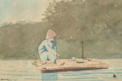 Boy on a Raft Poster Print by Winslow Homer # 55663