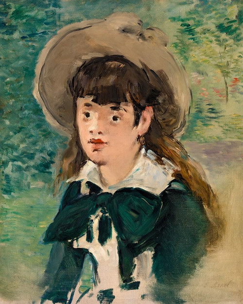 Young Girl on a Bench Poster Print by Edouard Manet # 56580