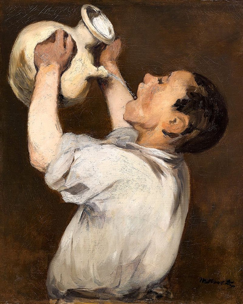Boy with Pitcher Poster Print by Edouard Manet # 56518