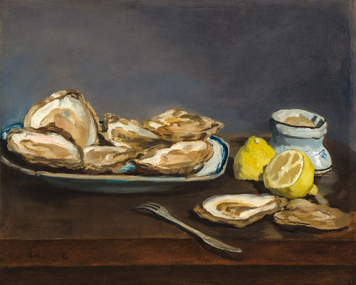 Oysters Poster Print by Edouard Manet # 56537