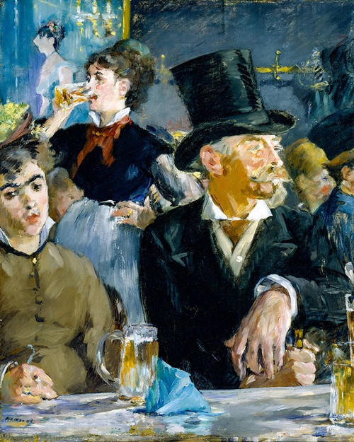 At the Cafe Poster Print by Edouard Manet # 56446