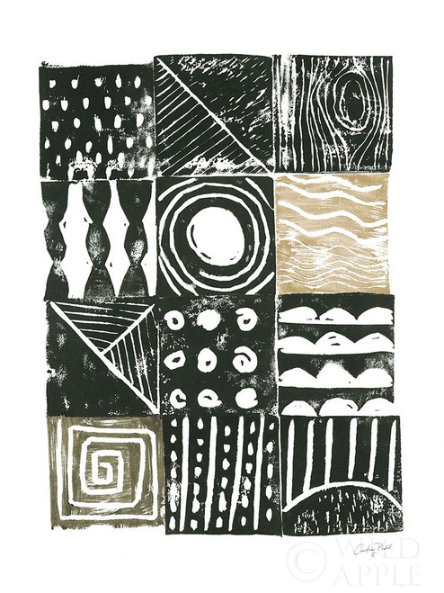 Block Print I Green Sand Poster Print by Courtney Prahl # 56472