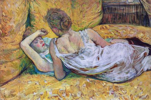 Les Deux Amies Poster Print by Henri de Toulouse-Lautrec # 56400